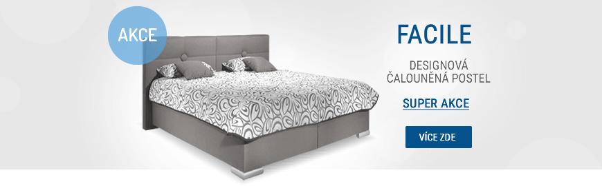 Moderní čalouněná postel FACILE